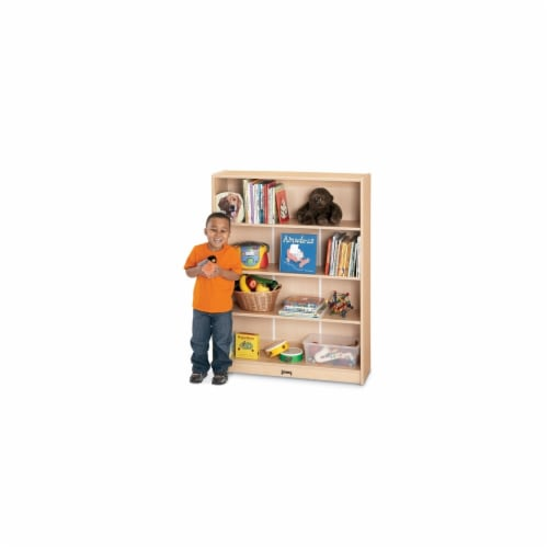 Jonti-Craft 0961JC011 Maplewave Bookcase- 48 inch High Perspective: front