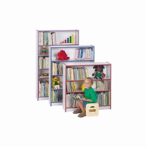 Jonti-Craft 0961JC114 Rainbow Accents Bookcase- 48 inch High- Orange Perspective: front