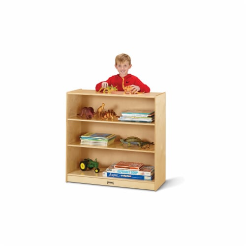 Jonti-Craft 5232JC Fixed Straight-Shelf Bookcase Perspective: front