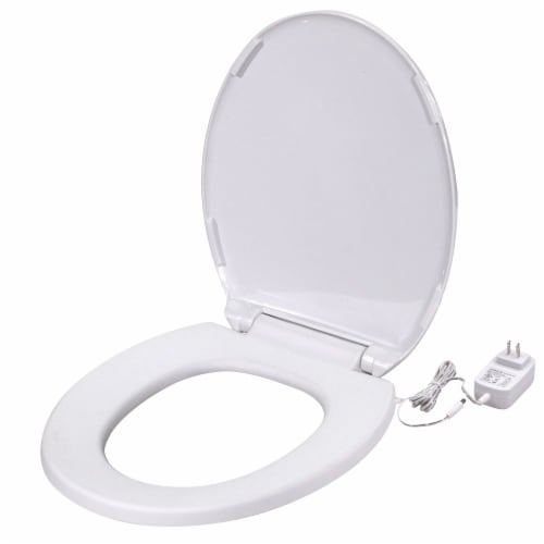 UltraTouch 01811 12 Watt 12 Volt UL Listed Round Bowl White Heated Toilet Seat Perspective: front