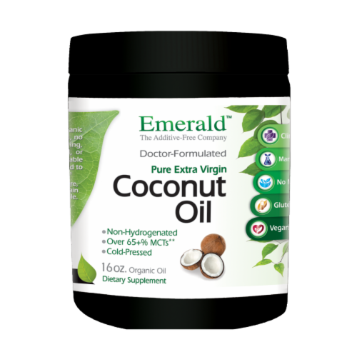 Fruitrients Organic Coconut Oil Perspective: front
