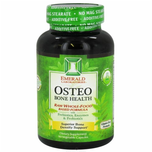 Emerald Labs Osteo Bone Health, 90 Vegetarian Capsules Perspective: front