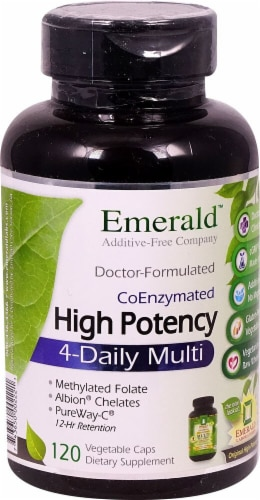 Emerald Labs  High Potency 4-Daily Multi Perspective: front
