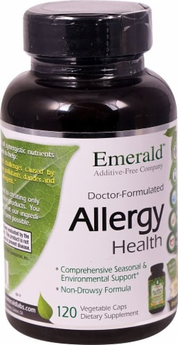 Emerald Labs Allergy Health Vegetable Caps Perspective: front