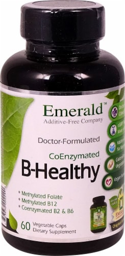 Emerald Labs CoEnzymated B-Healthy Vegetable Caps Perspective: front