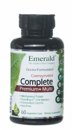 Emerald Labs  CoEnzymated Complete plus 2-Daily Multi Perspective: front