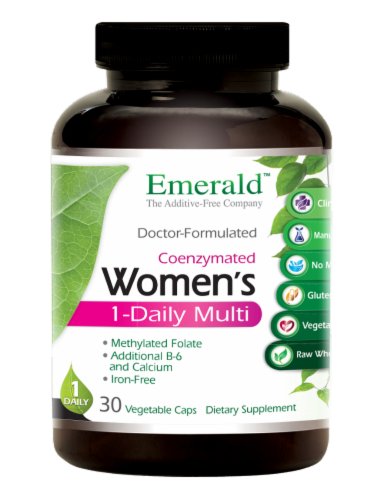 Emerald 1-Daily Women's Multivitamin Vegetable Caps Perspective: front