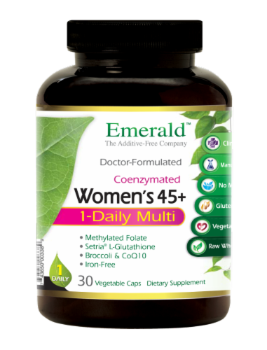 Emerald 1-Daily Women's 45+ Multivitamin Vegetable Caps Perspective: front