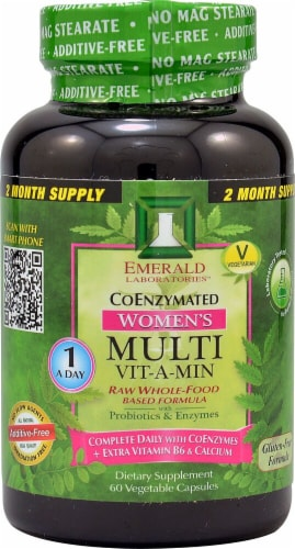 Emerald Labs 1 Daily Women's Multi Vegetable Capsules Perspective: front