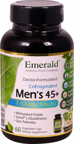 Emerald Labs  One-A-Day Men's 45 plus 1-Daily Multi Vegetable Capsules Perspective: front
