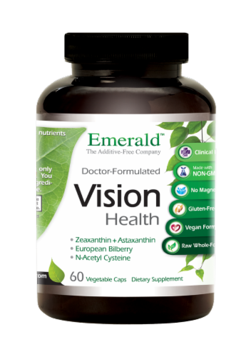 Emerald Labs Vision Health Capsules 60 Count Perspective: front