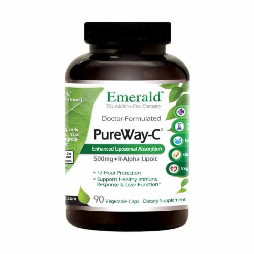 Emerald PureWay C + R-Alpha Lipoic Acid Vegetable Caps Perspective: front