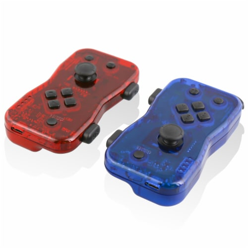 Nyko 87268NY Dualies Motion Controller Set for Nintendo Switch - Red/Blue Perspective: front