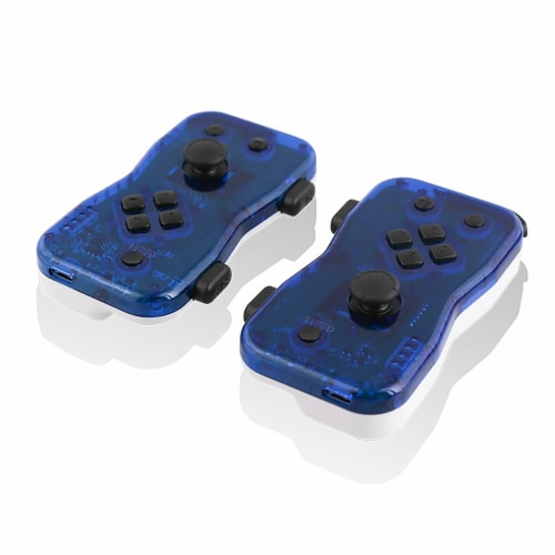 Nyko 87272NY Dualies Motion Controller Set for Nintendo Switch - Blue/White Perspective: front