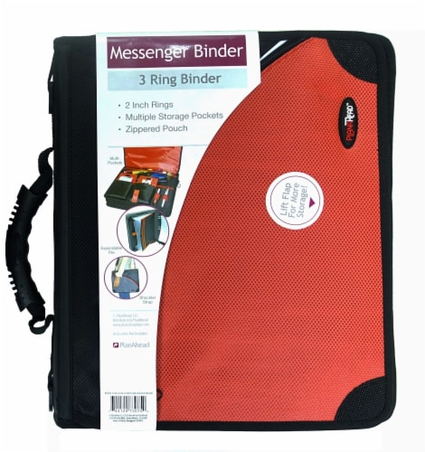 PlanAhead Messenger Binder with Handle - Assorted - 2 Inch Perspective: front