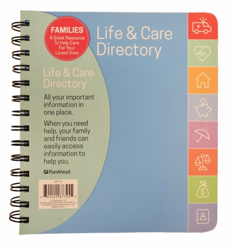 PlanAhead Life & Care Directory Perspective: front
