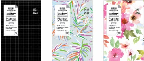 PlanAhead 2021-2022 24 Month See It Bigger Monthly Medium Planner - Assorted Perspective: front
