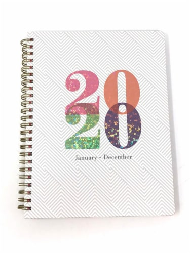 PlanAhead 2021 Fashion Holographic Planner - White Perspective: front