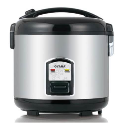 Oyama CFS-F12B 11'' x 11'' x 10-5/8'' Healthy Cooker Perspective: front