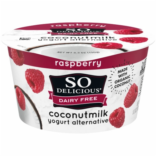 SO Delicious Dairy-Free Raspberry Coconutmilk Yogurt Alternative Perspective: front