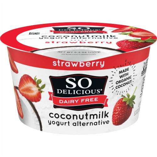 SO Delicious Dairy-Free Strawberry Coconutmilk Yogurt Alternative Perspective: front