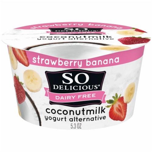 SO Delicious® Dairy Free Strawberry Banana Coconutmilk Yogurt Perspective: front