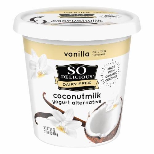 SO Delicious Dairy Free Vanilla Coconutmilk Yogurt Alternative Perspective: front