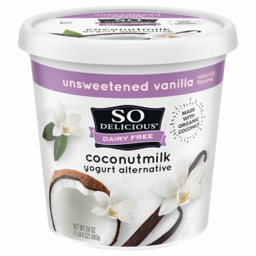 SO Delicious Dairy Free Unsweetened Vanilla Coconutmilk Yogurt Alternative Perspective: front