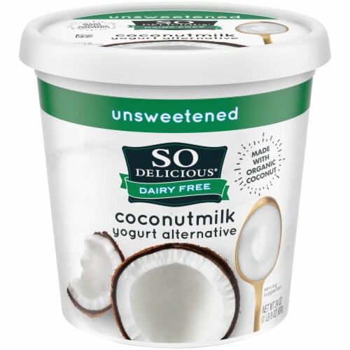 SO Delicious Dairy Free Unsweetened Coconutmilk Yogurt Alternative Perspective: front