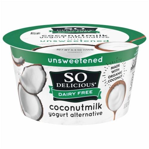 So Delicious Dairy-free Unsweetened Coconut Milk Yogurt Alternative Perspective: front