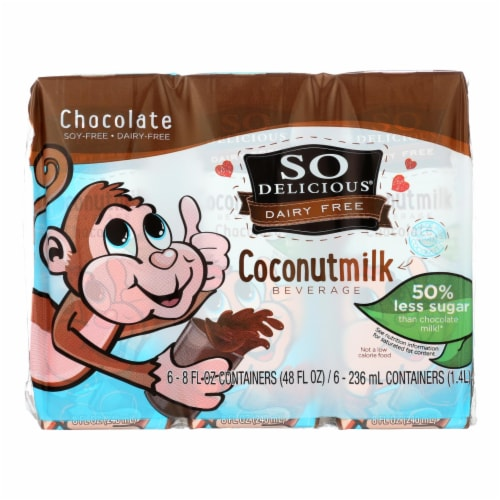 So Delicious Coconut Milk - Chocolate Organic Dairy Free - 6Pk - Case of 3 - 6/8 fl oz Perspective: front