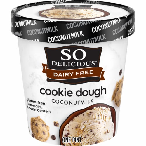 SO Delicious Cookie Dough Coconutmilk Non-Dairy Frozen Dessert Perspective: front