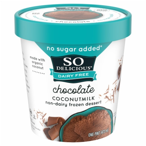 SO Delicious Dairy Free Chocolate Coconutmilk Frozen Dessert Perspective: front