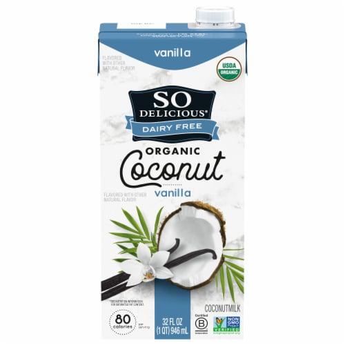 SO Delicious Dairy Free Organic Vanilla Coconutmilk Perspective: front
