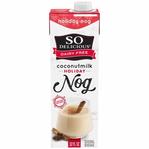 SO Delicious Dairy Free Holiday Nog Coconutmilk Perspective: front