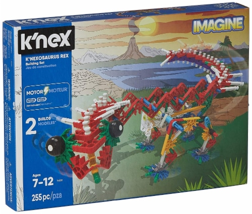 K'NEX Beasts Alive - K'NEXosaurus Rex Building Set - 255 Pieces - Ages 7+ Perspective: front