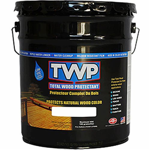 TWP WS-25B Light Walnut water-based series stain 5-gallon Perspective: front