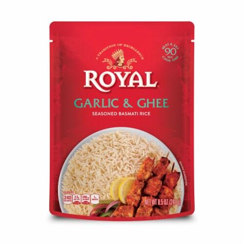 Royal Ghee & Garlic Seasoned Basmati Rice Perspective: front