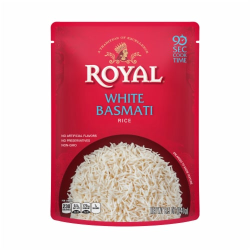 Royal White Basmati Rice Perspective: front