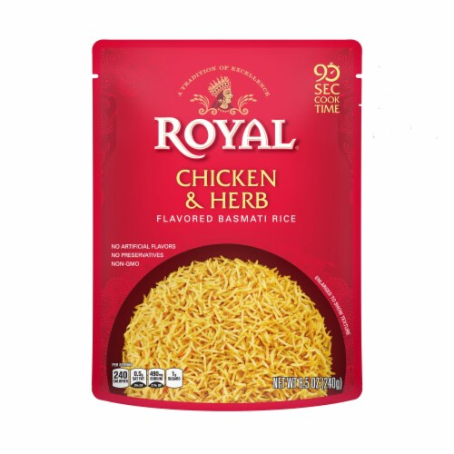 Royal Chicken & Herb Flavored Basmati Rice Perspective: front