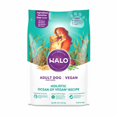 HALO Ocean of Vegan Recipe Adult Dry Dog Food Perspective: front