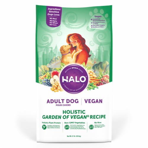 HALO Holistic Garden of Vegan Adult Dry Dog Food Perspective: front