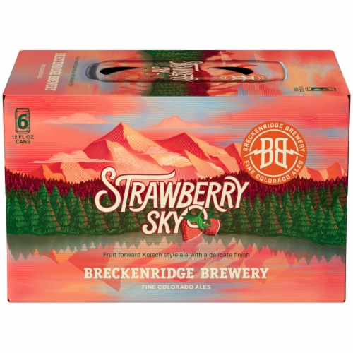 Breckenridge Brewery Strawberry Sky Kolsch Style Ale Beer Perspective: front