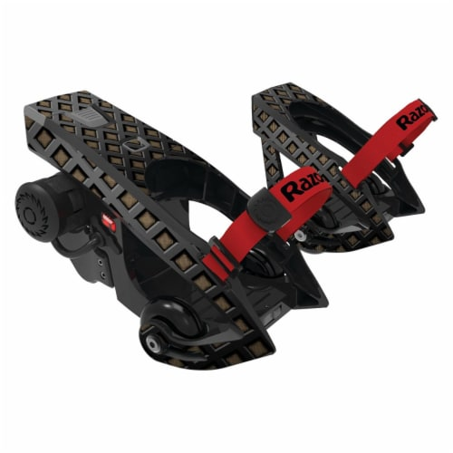 MightySkins RATUJE-Black Wall Skin for Razor Turbo Jetts Electric Heel Wheels - Black Wall Perspective: front