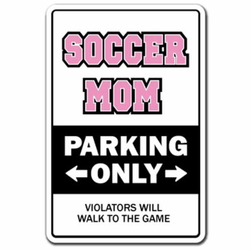 SignMission D-8-Z-Soccermom 8 x 12 in. Soccer Mom Decal - Coach Award Team Ball Perspective: front