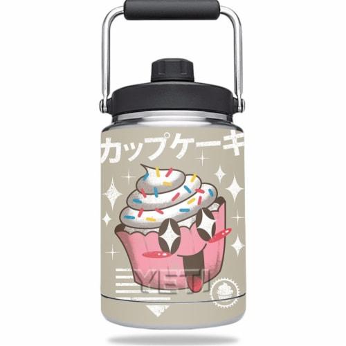 MightySkins YERAMJUG-Cupcake Kawaii Skin for Yeti 0.5 gal Jug - Cupcake Kawaii Perspective: front