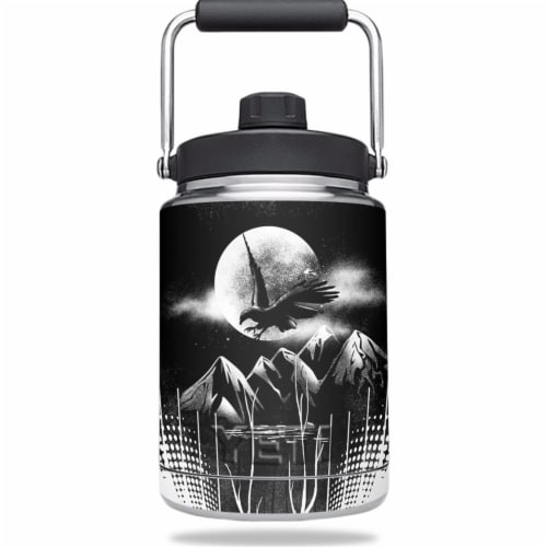MightySkins YERAMJUG-Eagles Night Skin for Yeti 0.5 gal Jug - Eagles Night Perspective: front