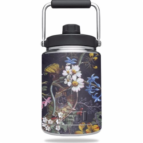 MightySkins YERAMJUG-Midnight Blossom Skin for Yeti 0.5 gal Jug - Midnight Blossom Perspective: front