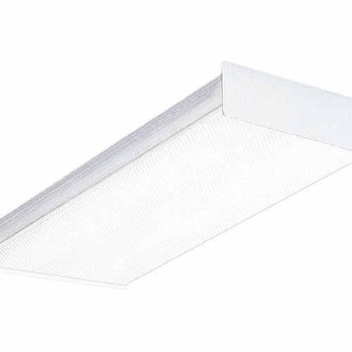 Lithonia Lighting Square Basket Fixture,2 ft L,17W  SB 2 17 MV Perspective: front