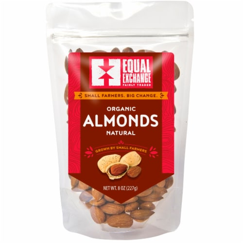 Equal Exchange Organic Natural Almonds Perspective: front
